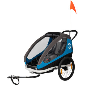 Hamax Traveller Remolques incl. Barra para Bicicleta & Rueda Buggy, blue/grey